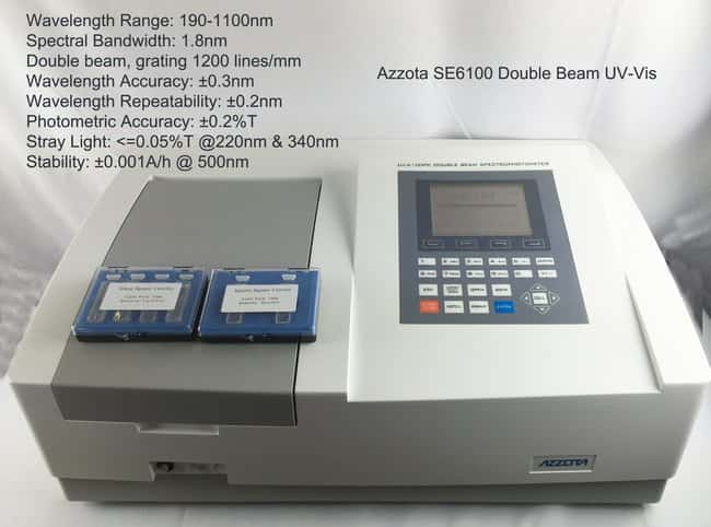 Azzota Corp SE6100PC Double Beam spectrophotometer, scanning function,