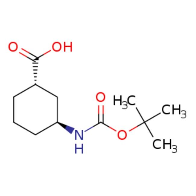eMolecules (1S,3S)-3-{[(TERT-BUTOXY)CARBONYL]AMINOCYCLOHEXANE-1-CARBOXYLIC
