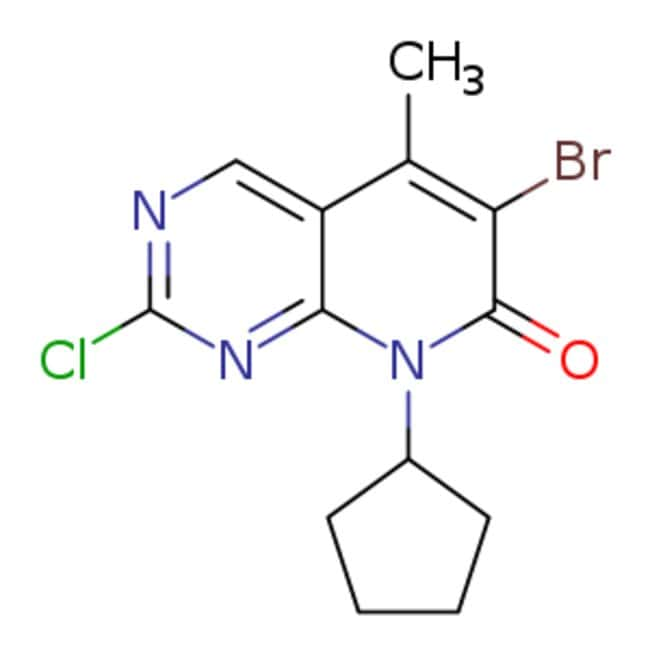eMolecules 6-bromo-2-chloro-8-cyclopentyl-5-methyl-7H,8H-pyrido[2,3-d]pyrimidin-7-one