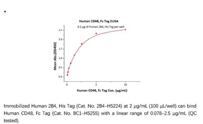 ACROBiosystemsRecombinant Protein;Human CD48 / SLAMF2 Protein, Fc Tag;HEK293;100UG;BC1,CD48,BCM1,SLAMF2,BLAST,BLAST1,MEM-102,TCT.1,BCM-1,SLAMF-2,BLAST-1