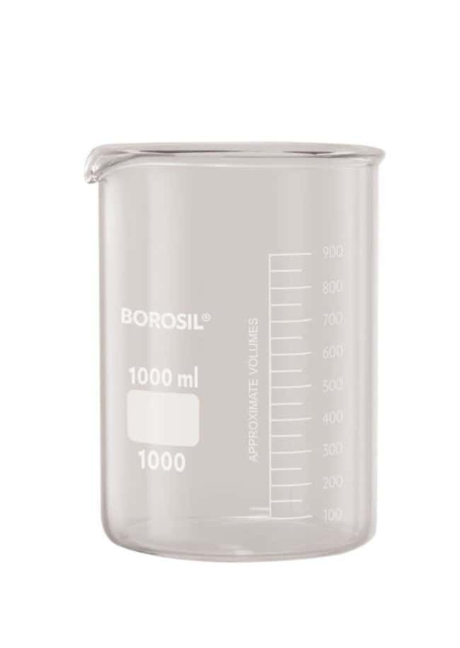 Foxx Life Sciences Borosil(T) Beakers, Griffin Low Form with Spout, 3L