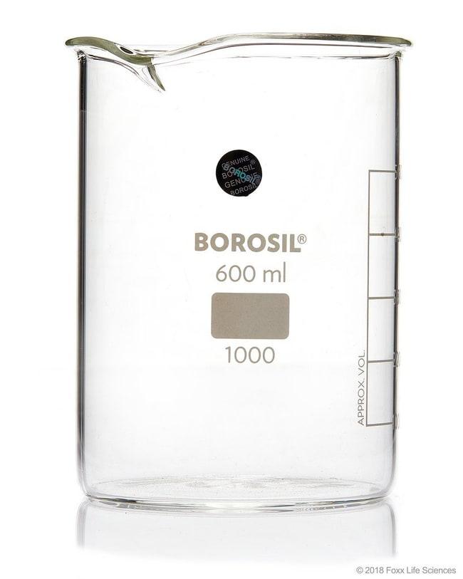 Foxx Life Sciences Borosil(T) Beakers, Griffin Low Form with Spout, 150mL,