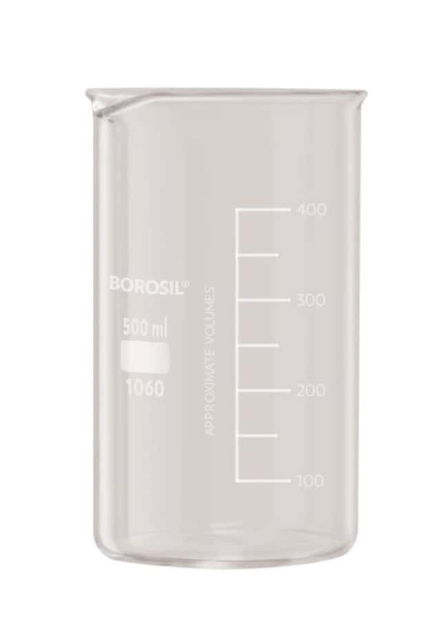Foxx Life Sciences Borosil(T) Beaker Griffin Tall Form with Spout, 800mL,