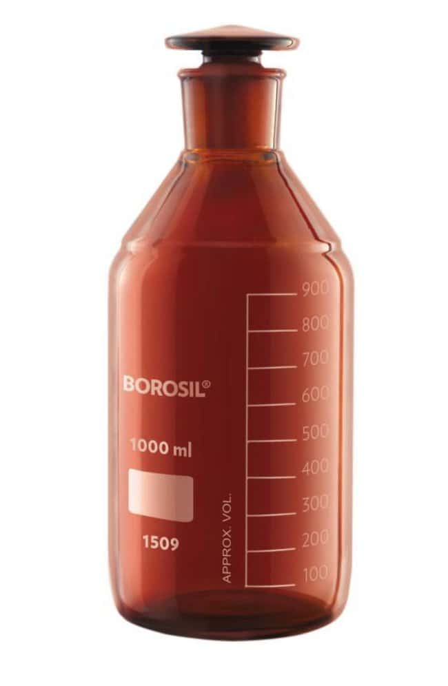 Foxx Life Sciences Borosil(T) Amber Light-Blocking Reagent Bottles with