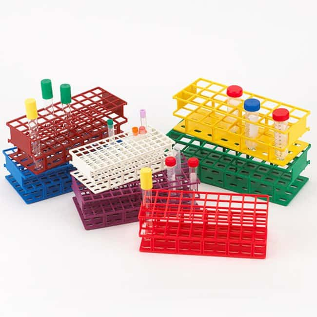 Globe Scientific Full Size Tube Rack with RFID Color: White:Racks, Boxes,