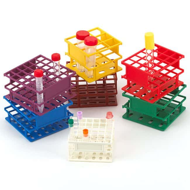 Globe Scientific Half Size Tube Rack with RFID Color: Green:Racks, Boxes,