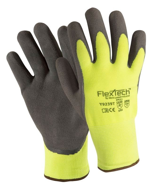 Wells Lamont FlexTech Hi-Vis Synthetic Knit Palm Coated Glove Size: Medium:Gloves,