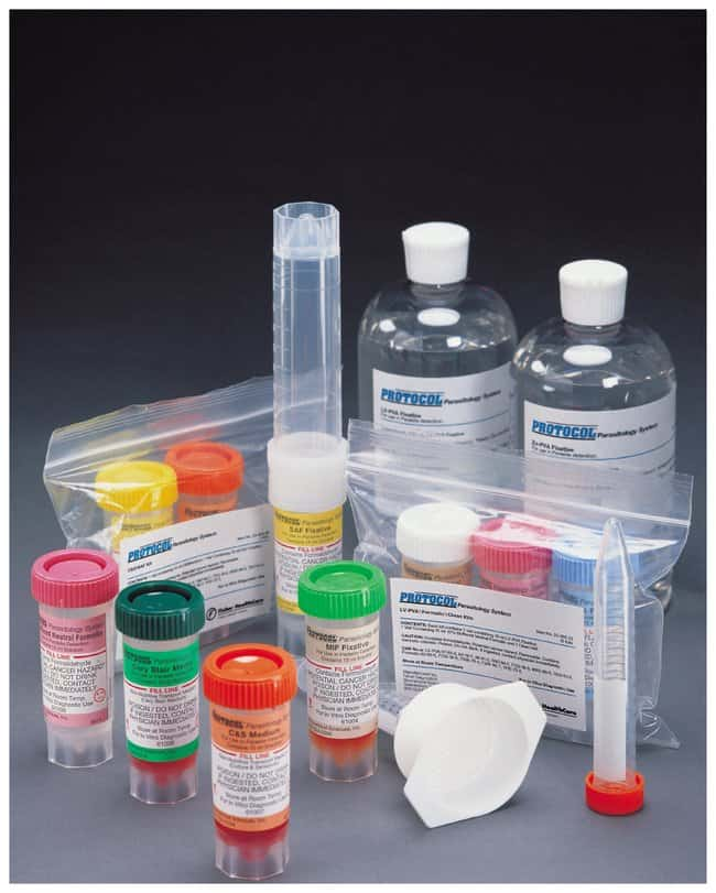 Fisher Healthcare PROTOCOL Parasitology Single-Vial Kits, Clean Vials :Healthcare:ClinicDx