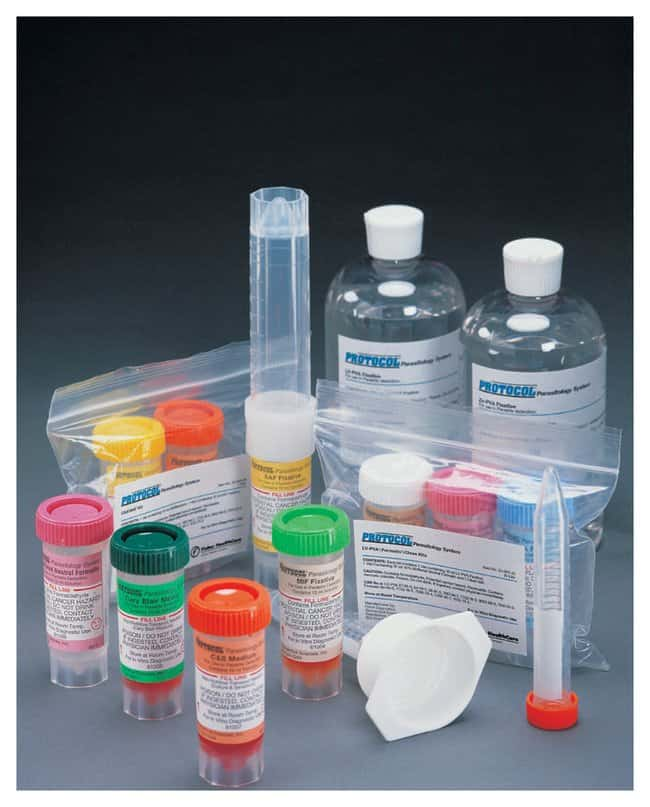 Fisher Healthcare PROTOCOL Parasitology Two-Vial Kits, Modified Cu-PVA/10%