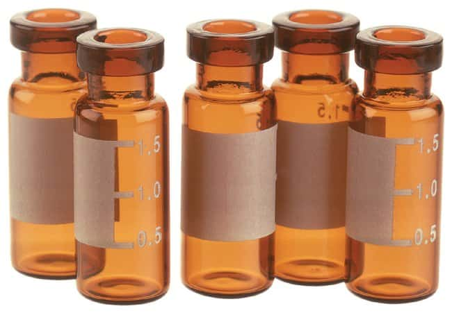 Thermo Scientific™11mm Amber Glass Crimp/Snap Top Vials