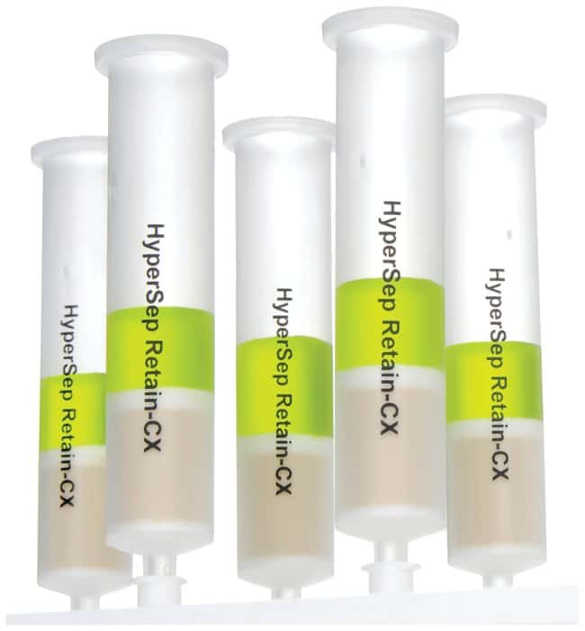 Thermo Scientific™ HyperSep™ Retain CX Cartridges 1g bed weight; 25mL column volume Thermo Scientific™ HyperSep™ Retain CX Cartridges