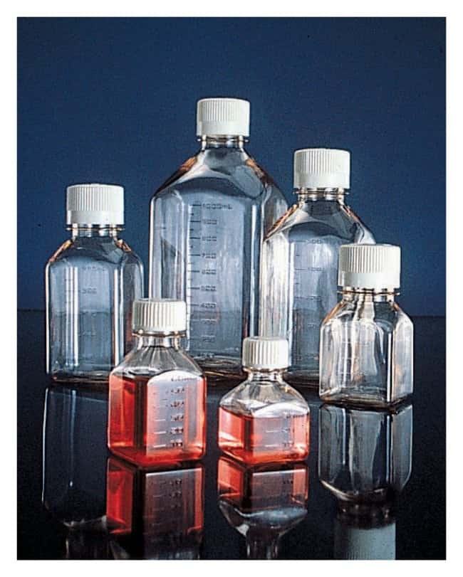 thermo scientific nalgene square petg media bottles with