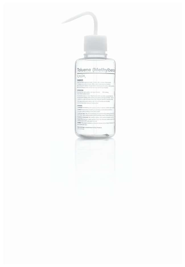 Thermo Scientific™Nalgene™ Right-to-Understand FEP Safety Wash Bottles with Globally Harmonized System (GHS) Labeling for Harsh Chemicals Toluene (Methylbenzene) Thermo Scientific™Nalgene™ Right-to-Understand FEP Safety Wash Bottles with Globally Harmonized System (GHS) Labeling for Harsh Chemicals