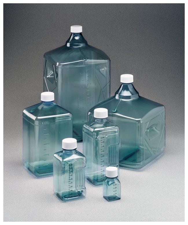 Thermo Scientific™Frascos y garrafas de policarbonato Nalgene™ Biotainer™ Tamaño: 1000ml, cuadrado, tapón de 48mm Thermo Scientific™Frascos y garrafas de policarbonato Nalgene™ Biotainer™
