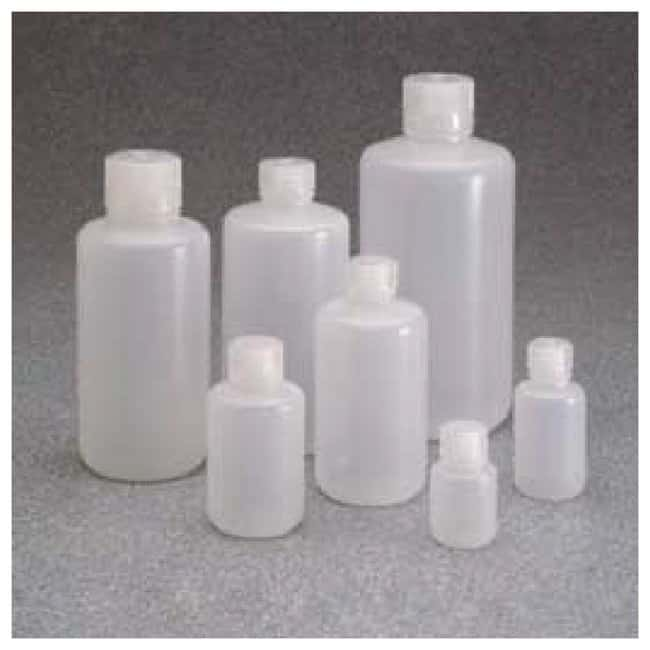 Thermo Scientific™ Nalgene™ Boston Round Narrow-Mouth Natural PPCO Bottles with Closure: Bulk Pack