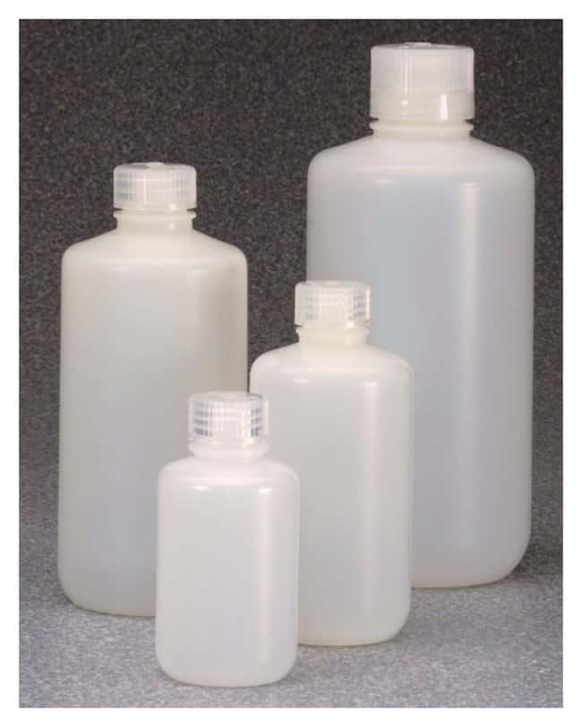 Thermo Scientific™Nalgene™ Fluorinated Narrow-Mouth HDPE Bottles with Closure