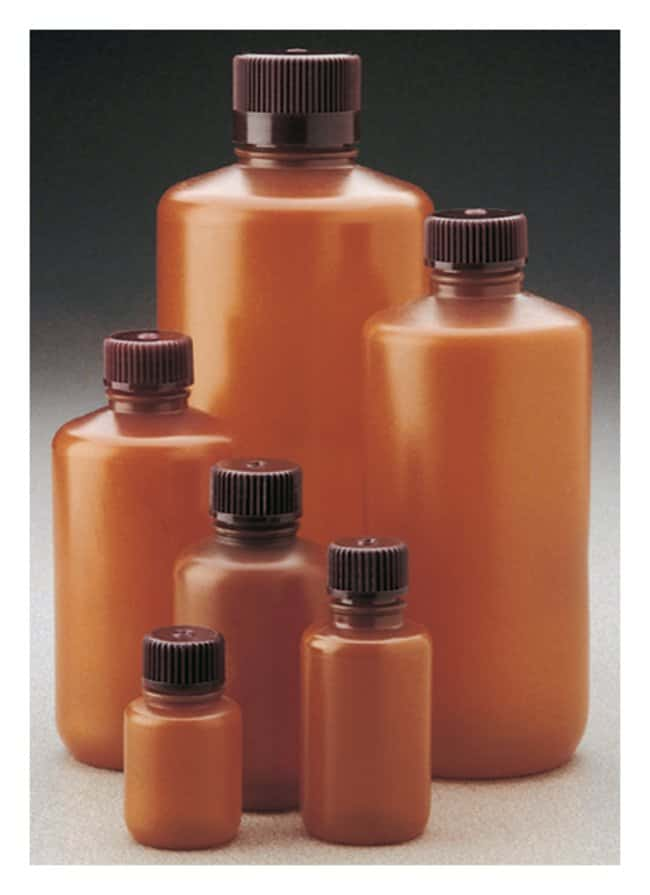 Thermo Scientific™Nalgene™ Narrow-Mouth Translucent Amber HDPE Packaging Bottles with Closure: Bulk Pack: Bottles Bottles, Jars and Jugs