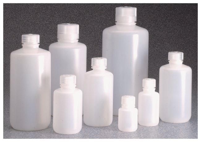 Thermo Scientific™Nalgene™ Boston Round Narrow-Mouth HDPE Bottles with Closure: Bulk Pack