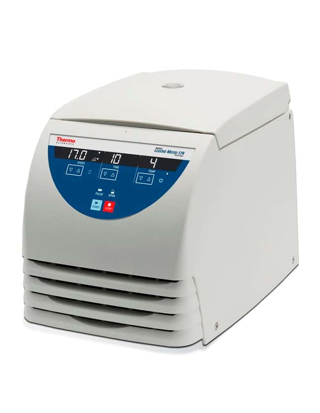 Thermo Scientific™Sorvall™ Legend™ Micro 17R Microcentrifuge Sorvall Legend Micro 17R Microcentrifuge, Refrigerated, 230V 50/60Hz, includes 24 x 1.5/2.0 mL rotor with ClickSeal biocontainment lid Thermo Scientific™Sorvall™ Legend™ Micro 17R Microcentrifuge