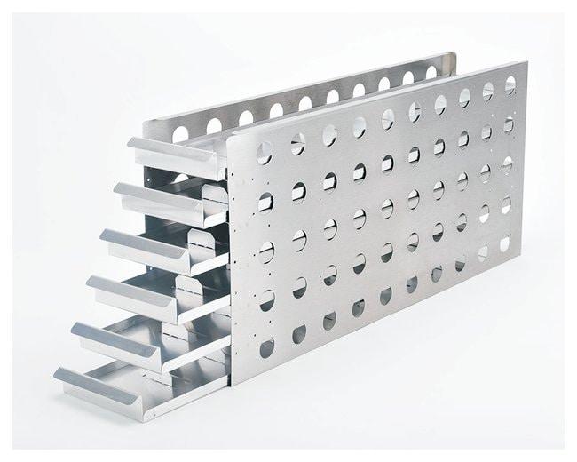 Thermo Scientific™Gestelle mit Gleiteinschüben für Röhrchen (Tiefkühlschränke mit 4 Innentüren) For 900 Series 28CF, TSE600 ULTs, Boxes per Rack: 56, Compatible with Matrix 2D tubes (200uL and 500uL Mfr. No. 3747, 3748, 3734, 3735, 4898, 3736, 3737) and Nunc Cryobank tubes (500uL) Thermo Scientific™Gestelle mit Gleiteinschüben für Röhrchen (Tiefkühlschränke mit 4 Innentüren)