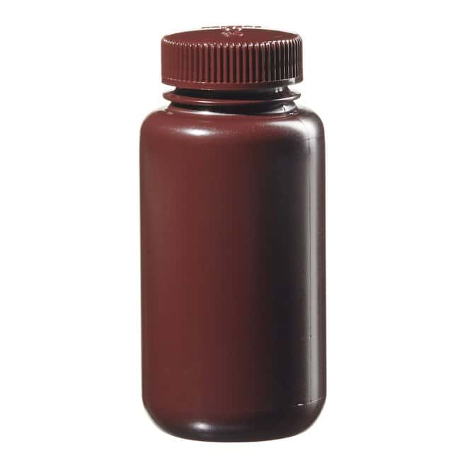 Thermo Scientific™ Nalgene™ Wide-Mouth Lab Quality Amber HDPE Bottles Capacity: 8 oz. (250mL) Thermo Scientific™ Nalgene™ Wide-Mouth Lab Quality Amber HDPE Bottles