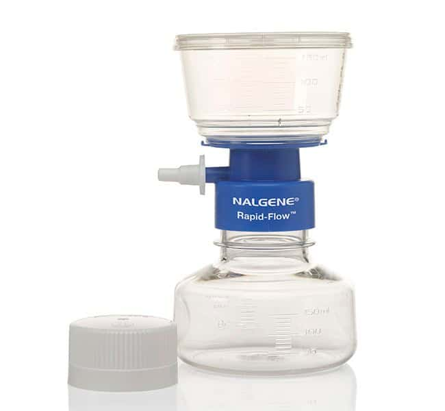 Thermo Scientific™ Nalgene™ Rapid-Flow™ Sterile Single Use Vacuum Filter Units 150mL; Pore Size: 0.45μm; Membrane: 50mm Thermo Scientific™ Nalgene™ Rapid-Flow™ Sterile Single Use Vacuum Filter Units
