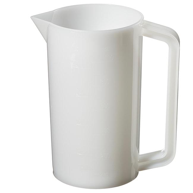 Thermo Scientific™Nalgene™ Graduated HDPE Plastic Beakers with Handles: Beakers   50mL, 250mL, 500mL   Fisher Scientific Beakers, Bottles, Cylinders and Glassware