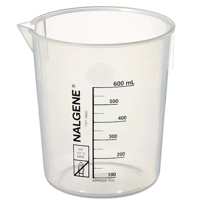 Thermo Scientific™Nalgene™ Polypropylene Griffin Low-Form Plastic Beakers: Beakers and Lids Beakers, Bottles, Cylinders and Glassware