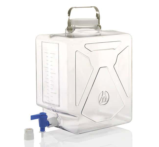 Thermo Scientific™ Clearboy™ rectangular de policarbonato Nalgene™ con llave, 20 l 5,0 galones (20 l); con llave Thermo Scientific™ Clearboy™ rectangular de policarbonato Nalgene™ con llave, 20 l