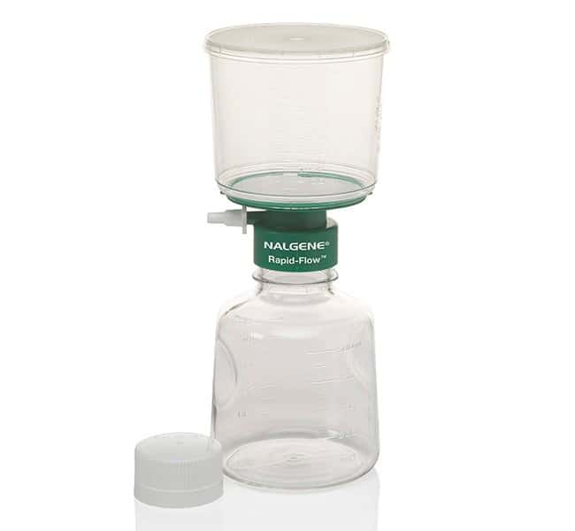 Thermo Scientific™ Nalgene™ Rapid-Flow™ Sterile Single Use Vacuum Filter Units 500mL; Pore Size: 0.45μm; Membrane: 75mm; Color/Grid: White/Black Grid Thermo Scientific™ Nalgene™ Rapid-Flow™ Sterile Single Use Vacuum Filter Units