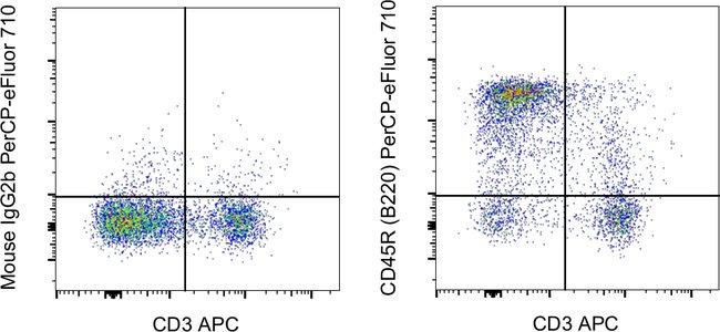 CD45R (B220) Mouse anti-Rat, PerCP-eFluor 710, Clone: HIS24, Invitrogen