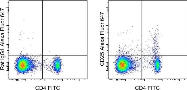 CD25 de rat anti-souris, Alexa Fluor® 647, clone: PC61,5, eBioscience™ 25μg; AlexaFluor® 647 voir les résultats