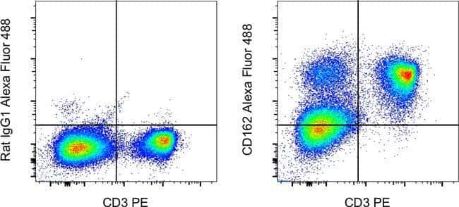 CD162 (PSGL-1) Rat anti-Mouse, Alexa Fluor 488, Clone: 4RA10, Invitrogen™ 100 μg; Alexa Fluor™ 488 voir les résultats