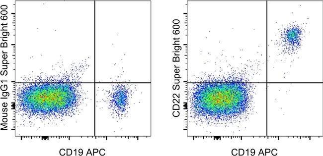 CD22 Maus Anti-Human, Super Bright 600, Klon: eBio4KB128 (4KB128), eBioscience™ 100 Tests; Super Bright 600 Produkte