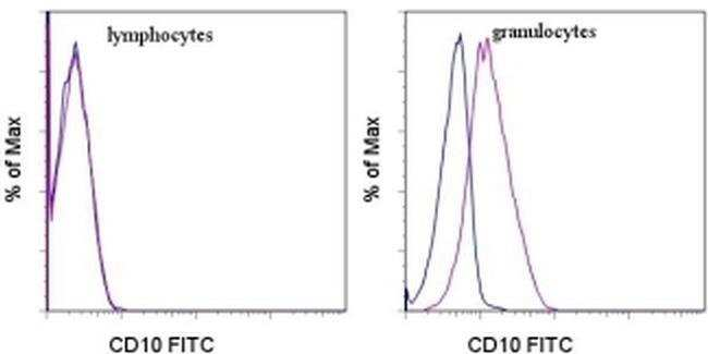 CD10 Mouse anti-Human, FITC, Clone: eBioCB-CALLA (CB-CALLA), eBioscience™ 100 Tests; FITC CD10 Mouse anti-Human, FITC, Clone: eBioCB-CALLA (CB-CALLA), eBioscience™