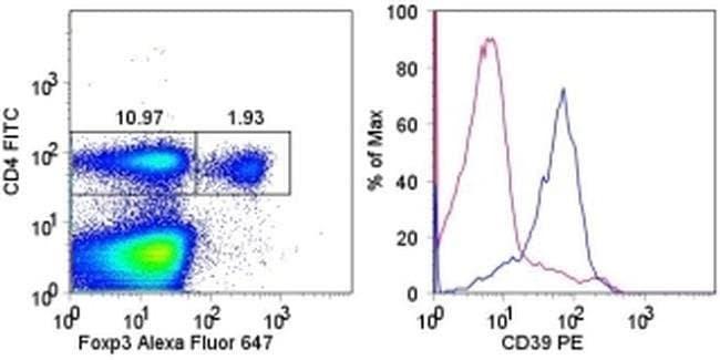 CD39 Rat anti-Mouse, PE, Clone: 24DMS1, eBioscience™ 25 μg; PE CD39 Rat anti-Mouse, PE, Clone: 24DMS1, eBioscience™