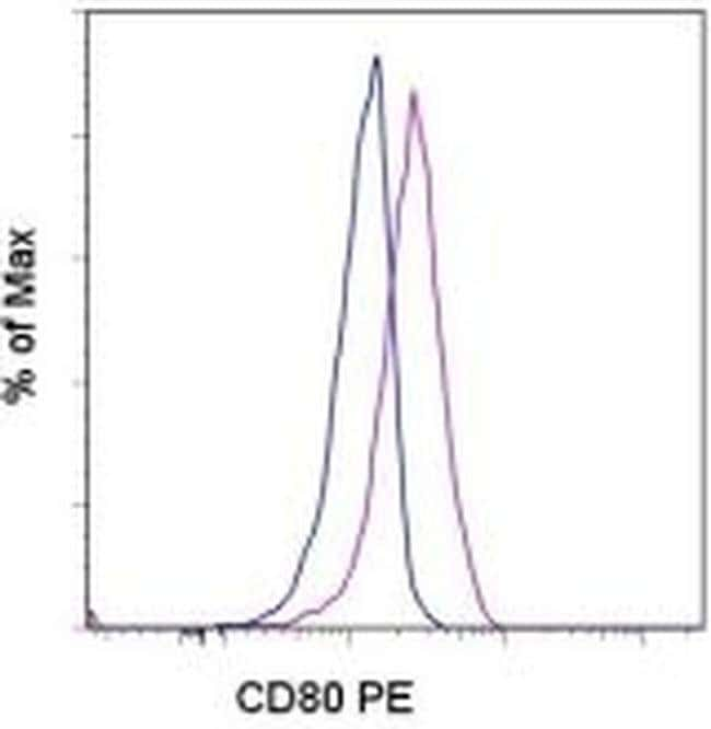 CD80 (B7-1) Mouse anti-Human, PE, Clone: 2D10.4, eBioscience™ 25 Tests; PE CD80 (B7-1) Mouse anti-Human, PE, Clone: 2D10.4, eBioscience™