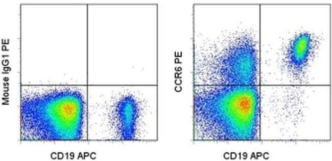CD196 (CCR6) Mouse anti-Human, PE, Clone: R6H1, eBioscience™ 100 Tests; PE CD196 (CCR6) Mouse anti-Human, PE, Clone: R6H1, eBioscience™