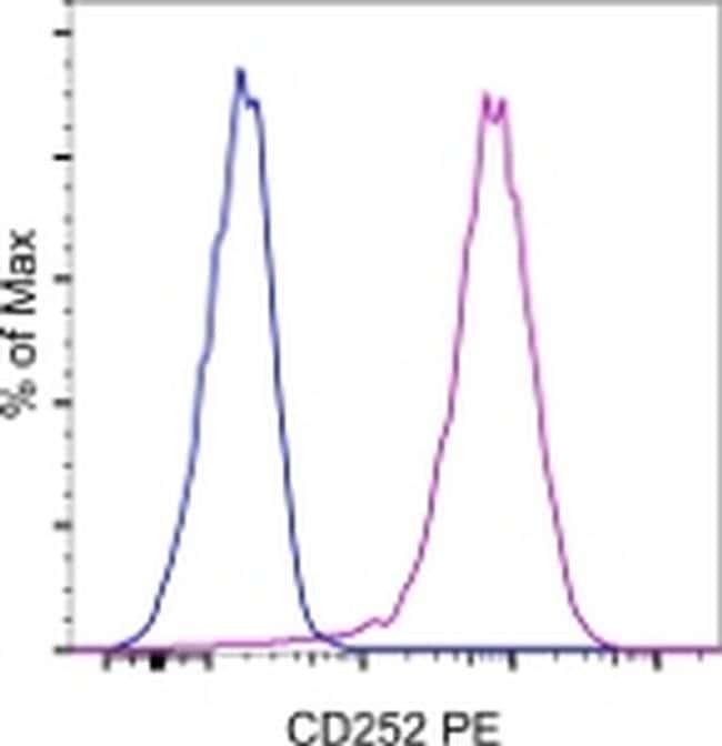 CD252 (OX40 Ligand) Rat anti-Mouse, PE, Clone: RM134L, eBioscience™ 200 μg; PE CD252 (OX40 Ligand) Rat anti-Mouse, PE, Clone: RM134L, eBioscience™
