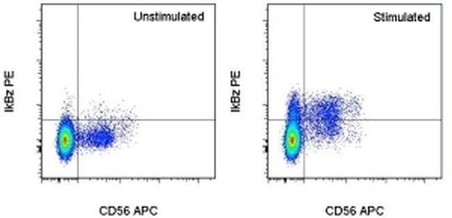 IkB zeta Mouse anti-Human, PE, Clone: hft2nap, eBioscience Invitrogen 100