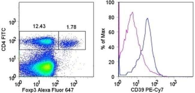 CD39 Rat anti-Mouse, PE-Cyanine7, Clone: 24DMS1, eBioscience™ 100 μg; PE-Cyanine7 CD39 Rat anti-Mouse, PE-Cyanine7, Clone: 24DMS1, eBioscience™