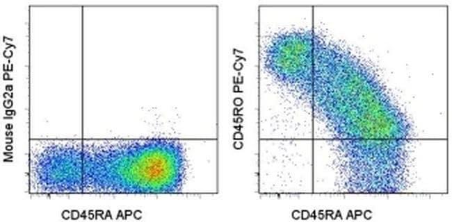 CD45RO Mouse anti-Human, PE-Cyanine7, Clone: UCHL1, eBioscience™ 100 Tests; PE-Cyanine7 CD45RO Mouse anti-Human, PE-Cyanine7, Clone: UCHL1, eBioscience™