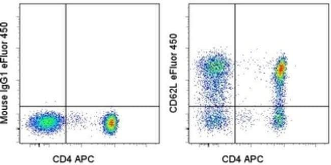 CD62L (L-Selectin) Mouse anti-Human, eFluor® 450, Clone: DREG-56 (DREG56), eBioscience™ 25 Tests; eFluor® 450 CD62L (L-Selectin) Mouse anti-Human, eFluor® 450, Clone: DREG-56 (DREG56), eBioscience™