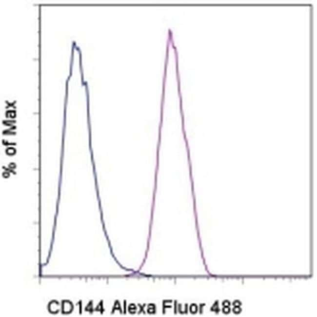 CD144 (VE-cadherin) Mouse anti-Human, Alexa Fluor® 488, Clone: 16B1, eBioscience™ 25 Tests; Alexa Fluor® 488 CD144 (VE-cadherin) Mouse anti-Human, Alexa Fluor® 488, Clone: 16B1, eBioscience™