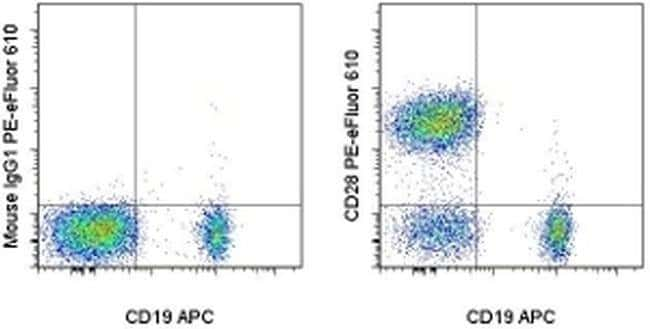CD28, PE-eFluor 610, clone: CD28.2, eBioscience™ 25 Tests; PE-eFluor 610 Primary Antibodies CD26 to CD30