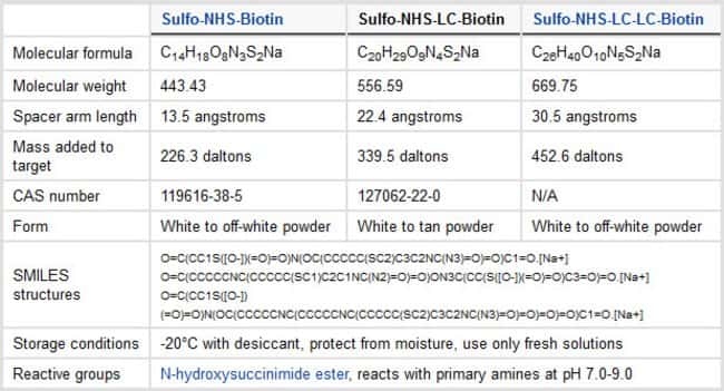 Thermo Scientific EZ-Link Sulfo-NHS-LC-Biotin and Labeling Kits:Life Sciences:Protein