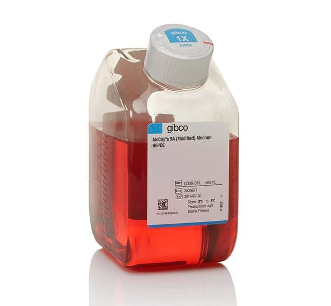 GibcoMcCoy's 5A (Modified) Medium, HEPES 500mL:Cell Culture Media