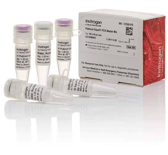 InvitrogenPlatinum SuperFi PCR Master Mix 100 rxns, 2X master mix, colorless:Molecular