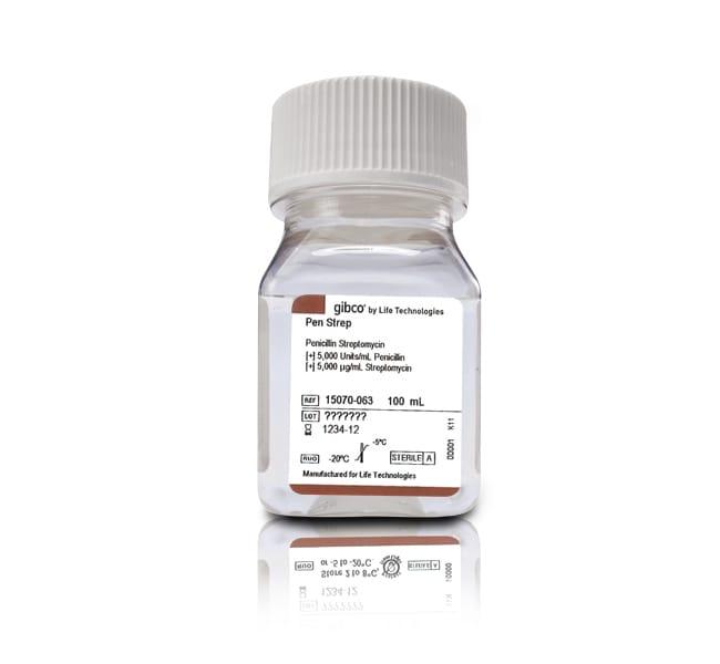 Gibco Penicillin-Streptomycin (5,000 U/mL)   100mL:Cell Culture