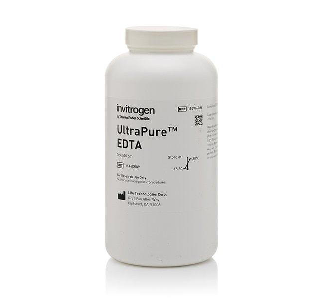 Invitrogen&trade;&nbsp;UltraPure&trade; Ethylenediaminetetraacetic Acid, Disodium Salt, Dihydrate (Na<sub>2</sub>EDTA&bull;2H<sub>2</sub>O) 500g Extracción y purificación de ADN